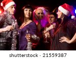 happy friends with champagne... | Shutterstock . vector #21559387
