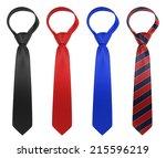 Silk Neckties. 3d Illustration...