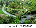 Sunken Garden In Butchart...