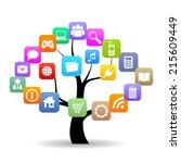 social media tree | Shutterstock .eps vector #215609449