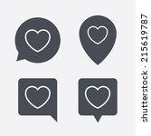 heart sign icon. love symbol....   Shutterstock .eps vector #215619787