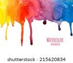 watercolor vector background | Shutterstock .eps vector #215620834