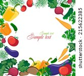 background with vegetables and... | Shutterstock .eps vector #215622385