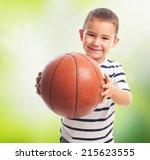portrait of a little boy... | Shutterstock . vector #215623555