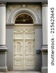 historical ornate wooden door