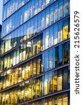 windows of skyscraper business... | Shutterstock . vector #215626579