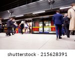 travelers movement in tube... | Shutterstock . vector #215628391