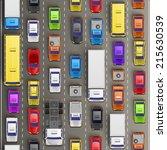traffic jam on the road  road... | Shutterstock .eps vector #215630539