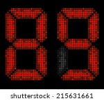 numbers eight and nine made...   Shutterstock .eps vector #215631661