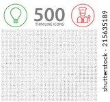 set of 500 standard universal... | Shutterstock .eps vector #215635189