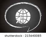 vector web icon chalk on a... | Shutterstock .eps vector #215640085
