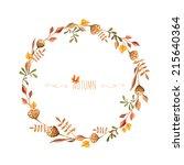 Watercolor Autumn Frame. Wreath ...