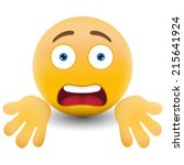 yellow emoticon cartoon... | Shutterstock .eps vector #215641924