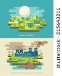 green energy ecology concept... | Shutterstock .eps vector #215643211