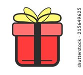 stock vector color gift flat...
