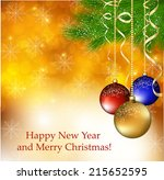christmas background | Shutterstock .eps vector #215652595