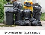 Plastic Trashcan  Overloaded...