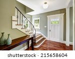 entrance hallway with staircase ... | Shutterstock . vector #215658604