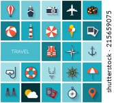 world travel concept background.... | Shutterstock .eps vector #215659075