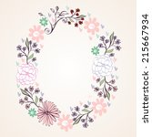 vector floral greeting card... | Shutterstock .eps vector #215667934