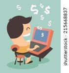 making money from online... | Shutterstock .eps vector #215668837
