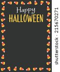 happy halloween candy corn...   Shutterstock .eps vector #215670271