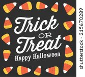 trick or treat happy halloween... | Shutterstock .eps vector #215670289