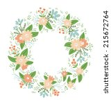 vintage floral compositions... | Shutterstock .eps vector #215672764