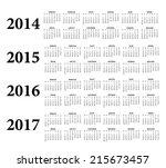 2014  2015  2016  2017 russian... | Shutterstock .eps vector #215673457