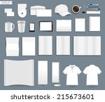 corporate identity templates ... | Shutterstock .eps vector #215673601