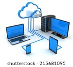 abstract cloud storage  done in ... | Shutterstock . vector #215681095