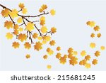 vector tree branch with fall... | Shutterstock .eps vector #215681245
