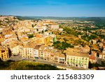 top view of typical catalan... | Shutterstock . vector #215683309