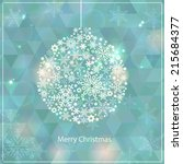 christmas and new year...   Shutterstock .eps vector #215684377