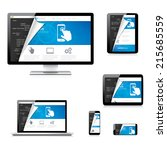 isolated website development... | Shutterstock .eps vector #215685559