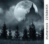 Magic Castle Silhouette Over...