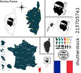 Vector Map Of State Corsica...