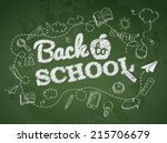 back to school poster with... | Shutterstock .eps vector #215706679