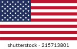 flag of united states | Shutterstock .eps vector #215713801