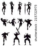 silhouette | Shutterstock .eps vector #215722975