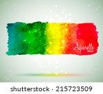 colorful watercolor vector...