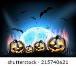 happy halloween party poster... | Shutterstock .eps vector #215740621
