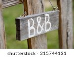 Closeup Of Old Signboard Bed  ...