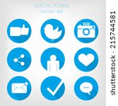 set of social icons flat style. ...