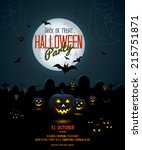halloween night poster template ... | Shutterstock .eps vector #215751871