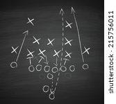 image of a football tactic on... | Shutterstock .eps vector #215756011