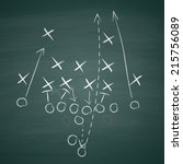 image of a football tactic on... | Shutterstock .eps vector #215756089