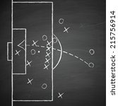 image of a soccer tactic on... | Shutterstock .eps vector #215756914
