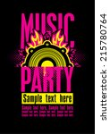 playbill for the musical party... | Shutterstock .eps vector #215780764