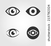 eye icons set  flat design | Shutterstock .eps vector #215782324